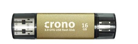 Crono R87 OTG 16GB Gold - USB OTG flash disk, zlatý